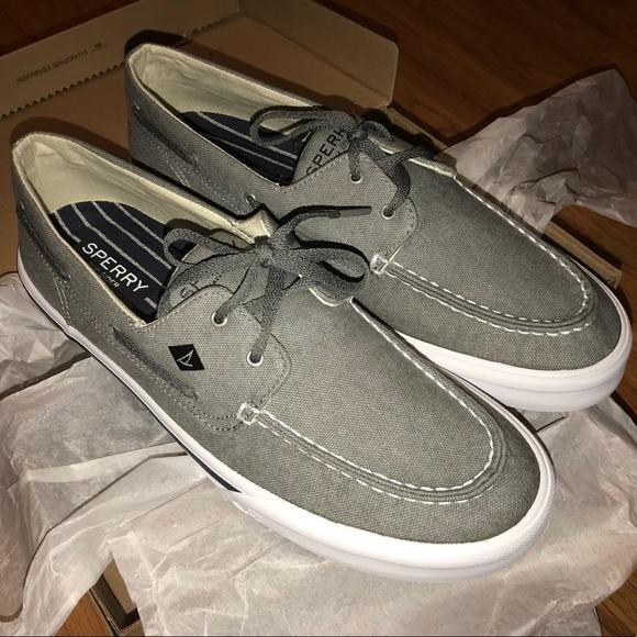 ec2883d8e50 NEW Sperry Men s Bahama II 2-Eye Gray Boat Shoes